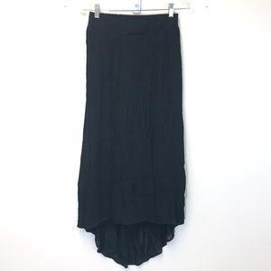 STAPLE Black Pleated Hi Low Skirt